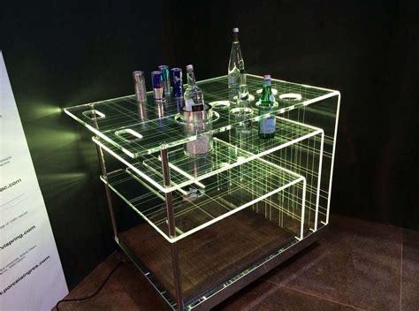 carrello porta bottiglie carrello luminoso bar