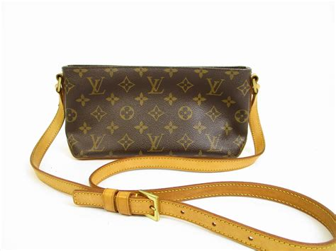 louis vuitton monogram leather brown cross body bag purse