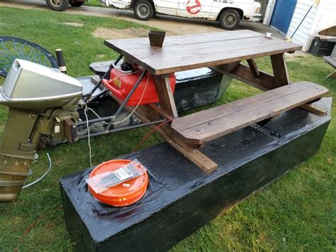 pontoon boat picnic table 7