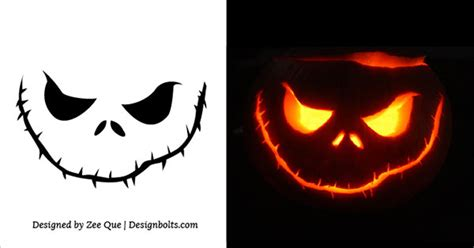 10 free scary halloween pumpkin carving patterns