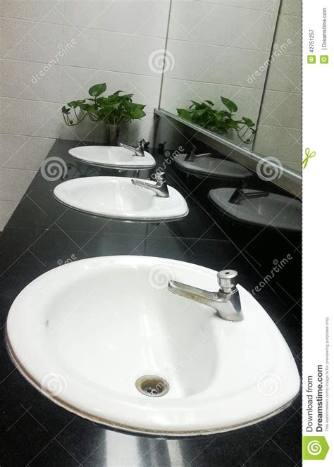 regular bathroom a sink stock photo image 42751257