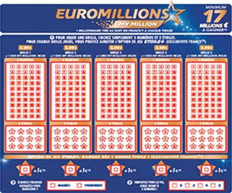 Euromillion Grille by Euromillions