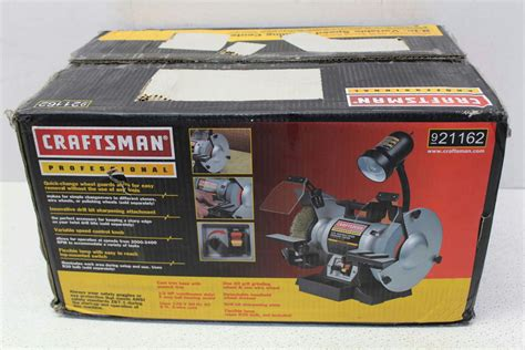 craftsman variable speed bench grinder craftsman professional variable speed 8 quot bench grinder