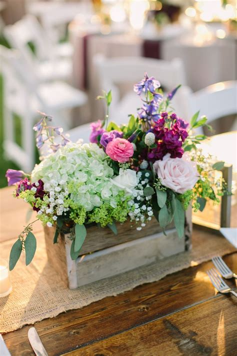 Center Wedding Flowers by Purple Wildflower Centerpieces Www Pixshark Images
