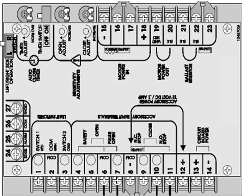 chamberlain liftmaster professional 1 2 hp wiring diagram