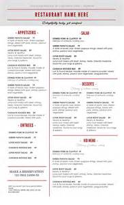 Free Menu Templates For Restaurants by Doc 464600 Microsoft Word Restaurant Menu Template