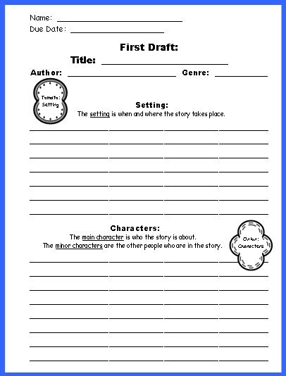 9 best images of free printable book report worksheets