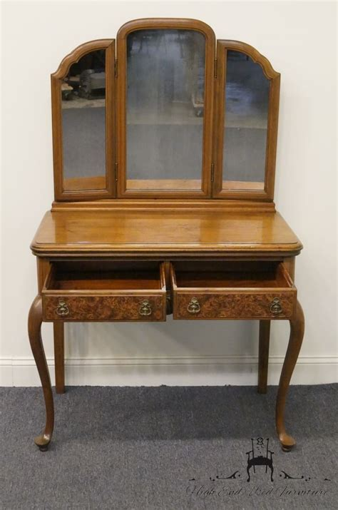 antique vanity with mirror and bench high end used furniture antique 1920 s french regency
