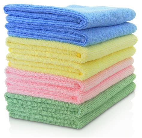 Micro Fiber Cleaner by Vibrawipe Microfiber Cloth Pack Of 8 Pieces 4 Colors