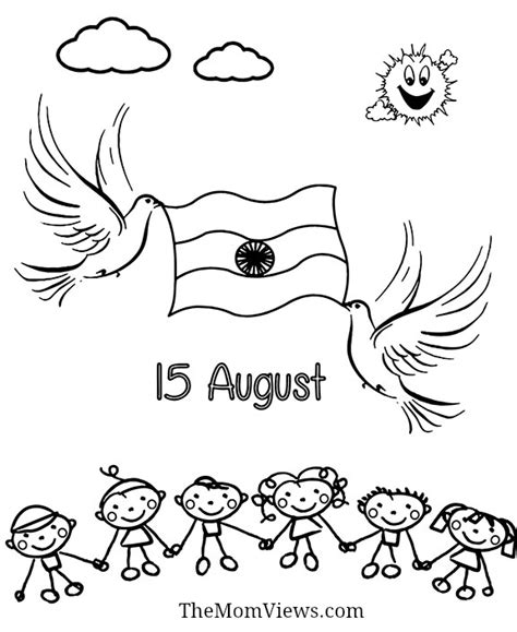 Indian Independence Day Coloring Pages by Indian Independence Day Coloring Page Sketch Coloring Page