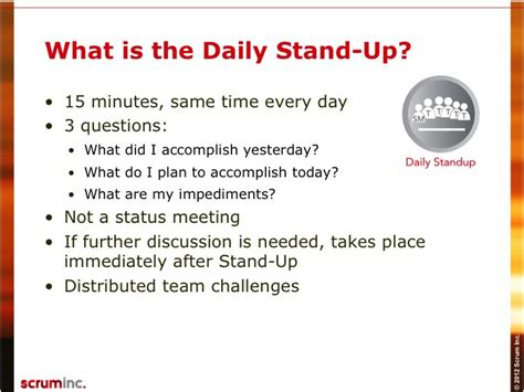 Scrum Daily Standup Template Slide098