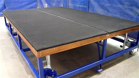 the glass racking company flat glass cutting table with