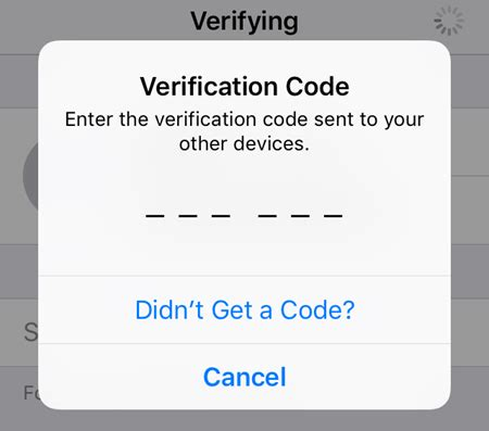 verification code how to enable two factor authentication for icloud on ios