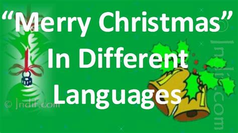 wishing merry christmas   languages