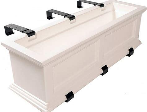 Deck Flower Boxes Railing Home Design Ideas Railing Planters Lowes