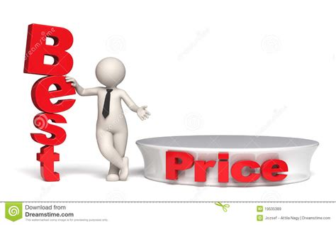 price of best price offer with stage and copyspace 3d stock