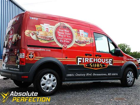 firehouse subs transit vehicle wrapping