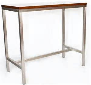 Timber Bar Table Stainless High Bar Timber Top Base023 Creative Furniture Design Cafe Furniture Restaurant