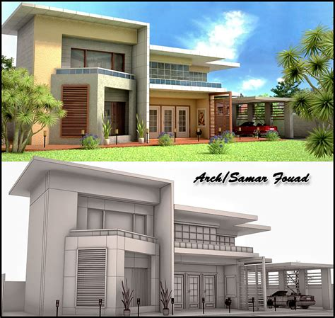 3d exterior home design free download 3d exterior of my 3ds max work by samarfouad on deviantart