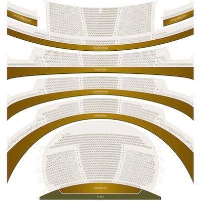 david h koch theater seating chart david h koch theater detailed seating chart