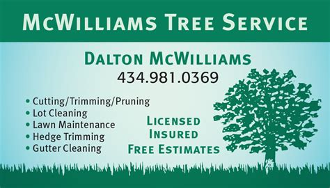 tree service free business card template business card advice