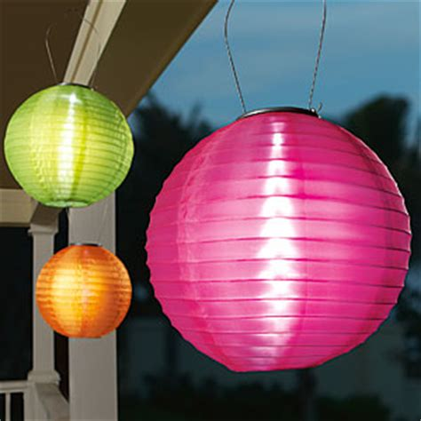 patio perfection colorful solar lanterns