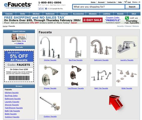 faucets from efaucets promo code