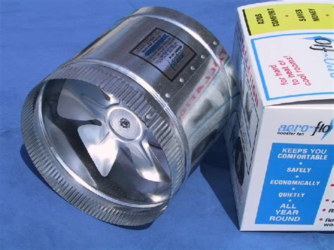 hvac square duct booster fan 6 quot 240 high cfm s aero flo furnace duct booster fan ebay