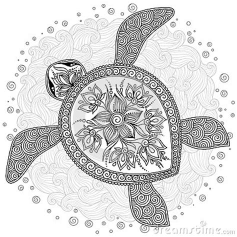 abstract turtle coloring pages pattern for coloring book decorative graphic turtle