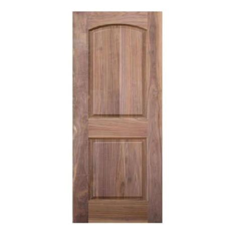 interior wood doors home depot krosscore 2 panel arch top honeycomb core walnut wood