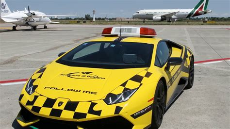 Lamborghini Bologna by New Lamborghini Follow Me Car At Bologna Airport