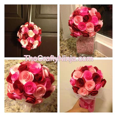 artificial paper flower making tutorial diy paper rose flower tutorial the crafty ninja