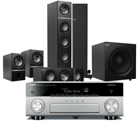 Kef Q100 Paket 7 1 2 Dolby Atmos Home Theater Speaker Sln Jbl Q B W Fo kef q500 surround set yamaha rx a860 hifi regler