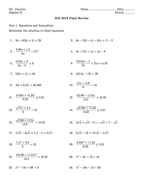 pre algebra midterm exam review pivot algebra two final exam infinite sums