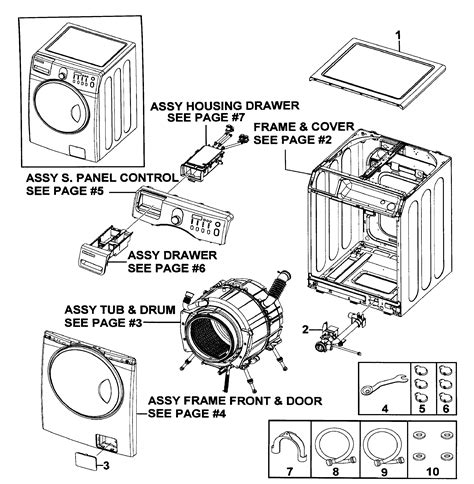 samsung washer parts samsung washer parts model wf219anwxaa0000 sears partsdirect