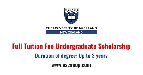 New Zealand Mba Scholarship by Tuition Fee Undergraduate Scholarship At