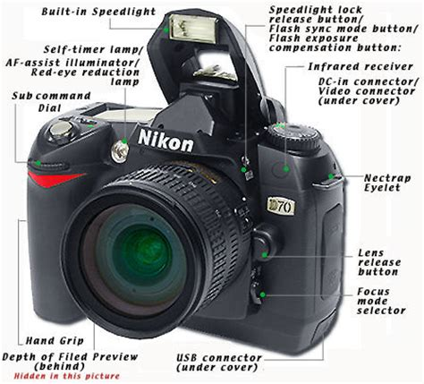 main reference map / nomenclature for nikon d70