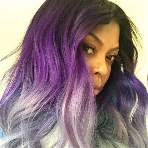 bold hair color taraji p henson follows bold hair color trend and dyes