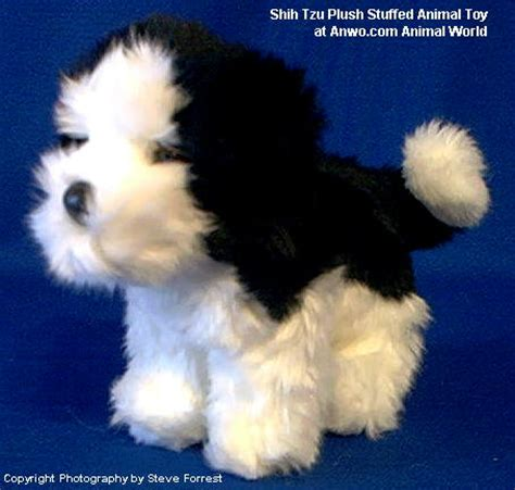 shih tzu plush stuffed animal toy poofy  animal world