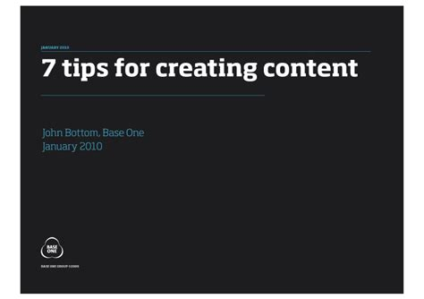 7 Tips To Create A Free Website by 7 Tips For Creating Content