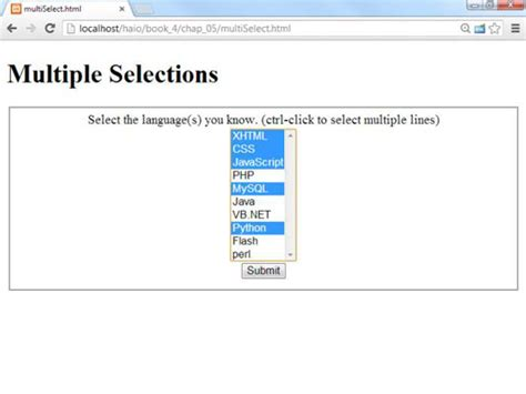 html tutorial listbox how to make a drop down box to allow multiple selections