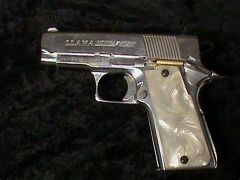 chrome llama minni pearl handled pistol youtube