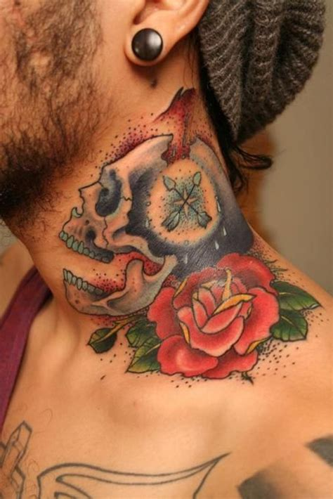 rose neck tattoo 43 outstanding roses neck tattoos