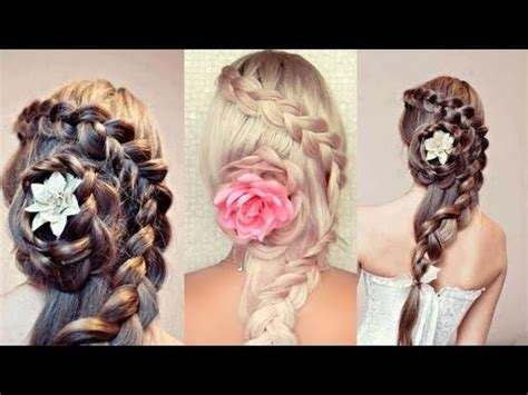 braided hairstyle for long hair. wedding, prom half updo