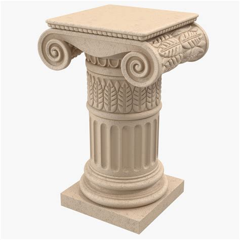 pedestal in column 3ds max ionic order column pedestal