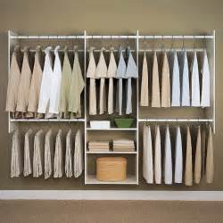 Closet Shelving Systems Easy Track Closet 4 8 Ft White Deluxe Closet Starter