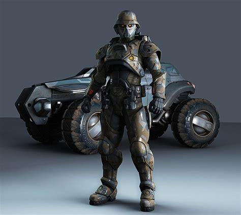 Future Warrior future robot futuristic soldier car helmet