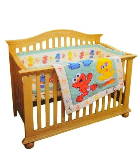 Sesame Crib Set sesame beginnings 3pc crib baby bedding set elmo