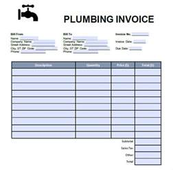 Plumbing Invoice Template by 7 Plumbing Invoice Free Sle Exle Format