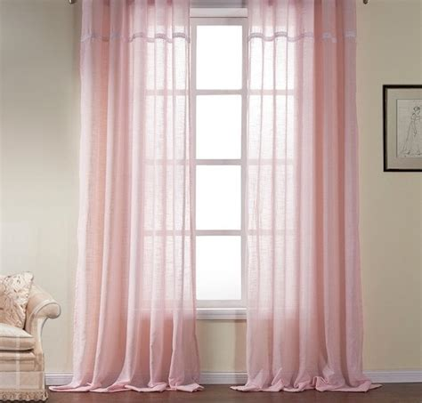 chiffon curtains drapes pale pink chiffon curtain sheer window dressing draping